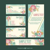 Floral corporate identity free set