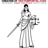 LADY JUSTICE VECTOR GRAPHICS.eps