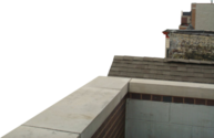 Rooftop Ledge Corner with Buildings PSD