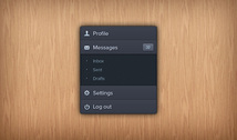 Vertical expandable menu PSD