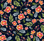 Color flowers seamless background