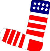 Patriotic US Sock