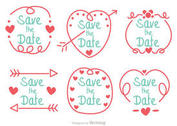 Hand Drawn Save The Date Vector Pack