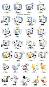 High-Tech Three-Dimensional Icon Style Vector Graphic-3