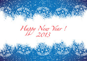 Happy New Year 2013 Blue Greeting Card Free