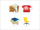 Detailed Office Icons
