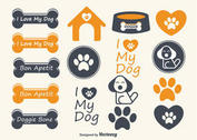 Cute Dog Vector Elements