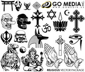 Go Media Produced Vector Graphic (Set8) - Religion