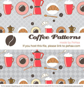 Matin Café illustrateur Free Patterns