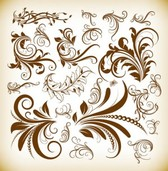 Vintage Decoration Vector Illustration Set