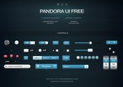 Pandora Web UI Elements Kit PSD
