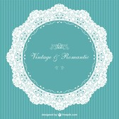 Vintage invitation romantic