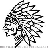 INDIAN CHIEF VECTOR STOCK.eps