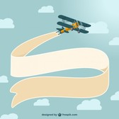 Vector vintage airplane design