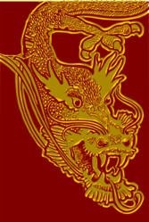 Chinese Dragon Head - red & yellow