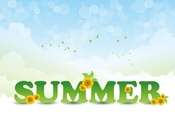 summer inscription background