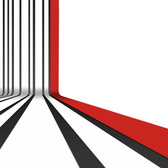 Bent Black and Red Stripes Pattern Background