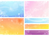 Free flowery vector backgrounds 04