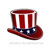 USA UNCLE SAM HAT VECTOR.ai