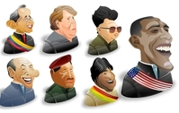 Freebie: 8 Political Characters Icon Set