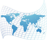 Vector Map Of The World Distort The Material