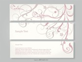 Swirl Floral Banners