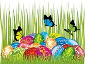 Easter Cards And Decorations Butterfly Eggs 04