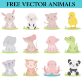 Free Cute Cartoon Animals