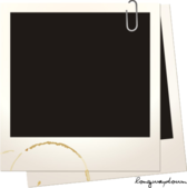 Coffee Stained Polaroids PSD
