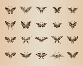 Butterflies for Design Vector Set