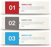 Number banners vector set