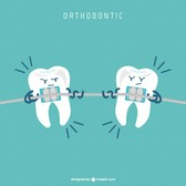Dental braces cartoon