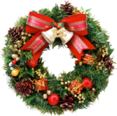 Christmas Wreath (High-res) PSD