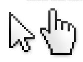 PSD mouse cursor and hand pointer icons