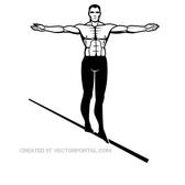 MAN ON WIRE VECTOR GRAPHICS.eps