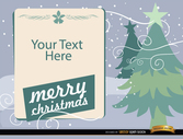 Christmas trees with text message