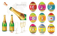 Champagne And Easter Eggs