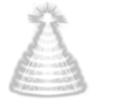 glowing christmas tree PSD