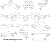 Ribbons and Scrolls Free Vector Pack