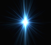 blue light flare burst PSD