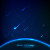 Dream Space meteor background
