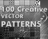 100 kreative Vektor-Design-Patterns