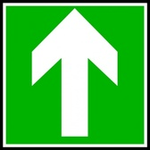 Directional Sign Continue Straight