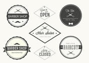 Trendy Barber Shop Labels