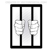 HANDS ON PRISON BARS IMAGE.eps