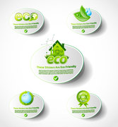 Environmentally Friendly Low-carbon Living Icon Vector Material Environmental Protection Low-carbon Life