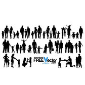 FAMILY VECTOR SILHOUETTES.eps