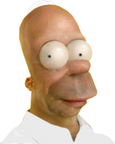 The Simpsons Homer PSD