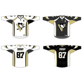 PENGUINS HOCKEY JERSEY VECTOR TEMPLATE.eps
