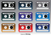 Cute Cassette Icons